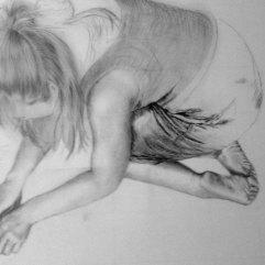 Drawing in progress by Maya Hum