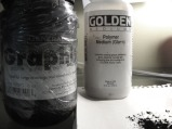 General's pure powdered graphite and Golden polymer medium.