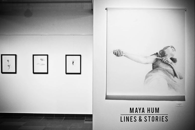 Lines & Stories Exhibition by Maya Hum. Photo by Genny Lui