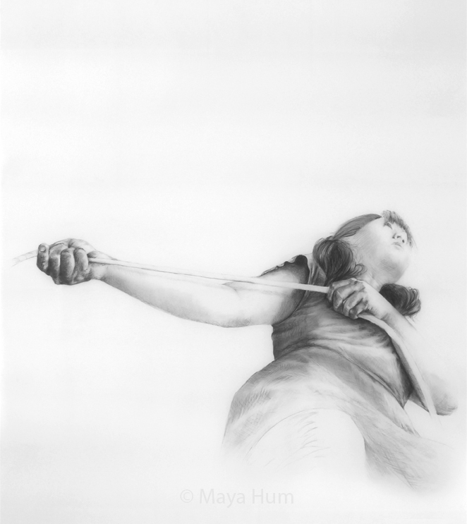 "Carry Forward, 36 x 40"" unframed, Pencil on Mylar"