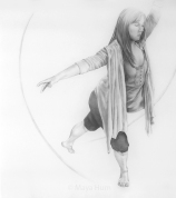 "Create a movement, 36 x 40"" unframed, Pencil on Mylar"