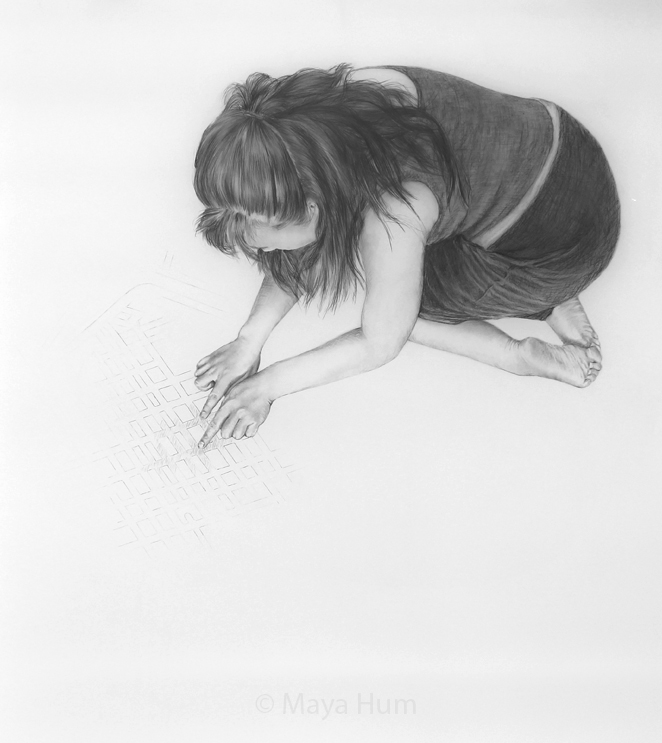 "Map it out, 36 x 40"" unframed, Pencil on Mylar"