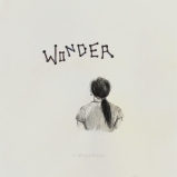 "Wonder, 9x9"" framed, mixed-meda on paper"