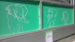 Elephant under painting underway