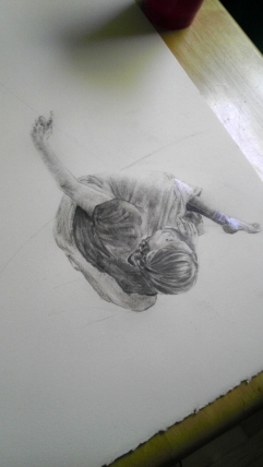 Unfinished drawing by Maya Hum