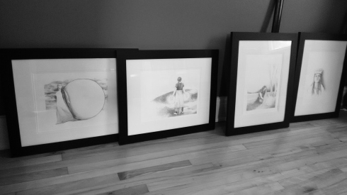 Drawings ready to deliver to the gallery!