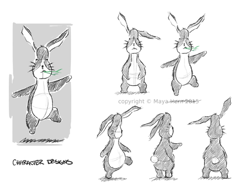 Bunny Character Design Sheet By Maya Hum 2015