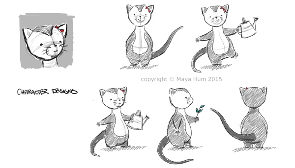 Possum Character Design Sheet By Maya Hum 2015