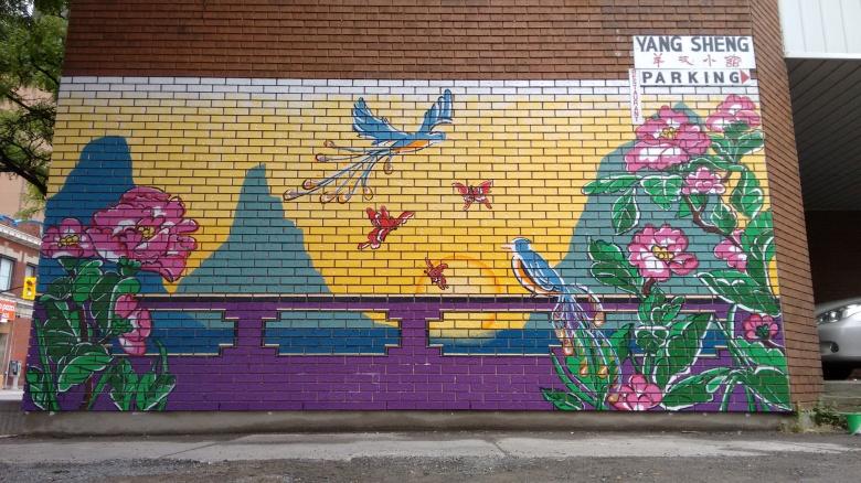 Street mural by Maya Hum 2015