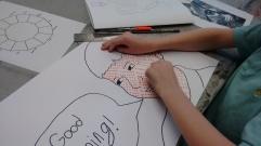 Roy Lichtenstein inspired self portrait