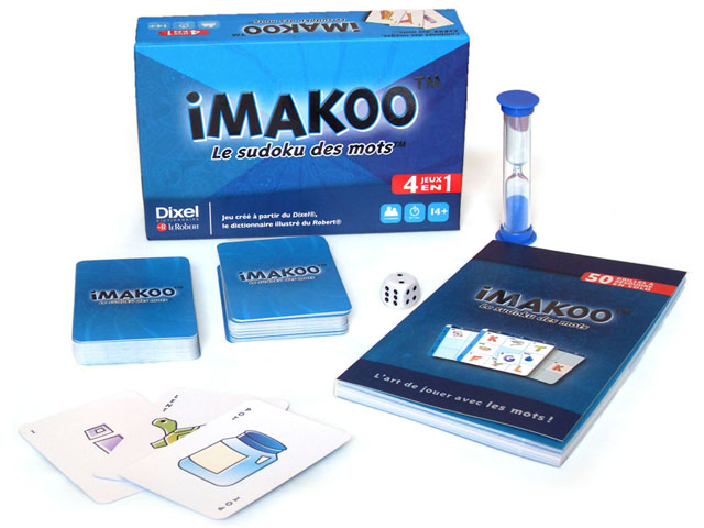IMAKOO (boxed Card game) - Employer: Groupe Nestor. Adobe Illustrator CS4, 2010