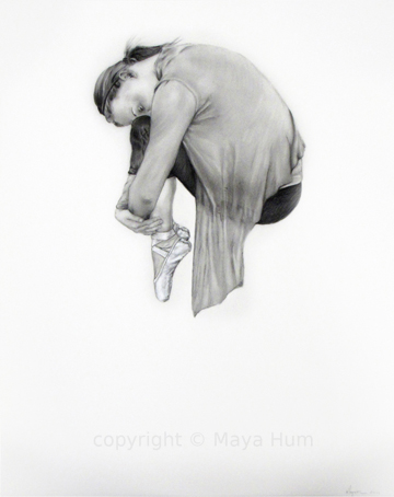 "Pause I, Graphite on Mylar, 15x19"" 2012"
