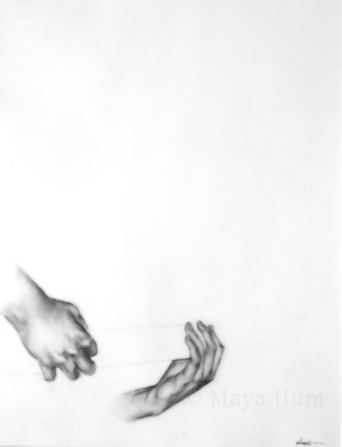 "Strum, graphite on mylar, 20x16"" 2009"