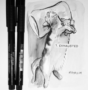 Maya Hum Inktober 2018 prompt: Exhausted