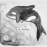 Maya Hum Inktober 2018 prompt: Whale