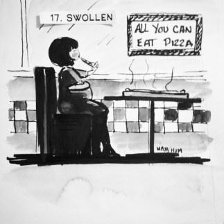 Maya Hum Inktober 2018 prompt: Swollen