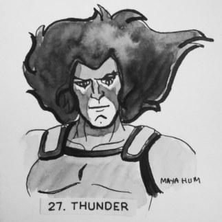 Maya Hum Inktober 2018 prompt: Thunder